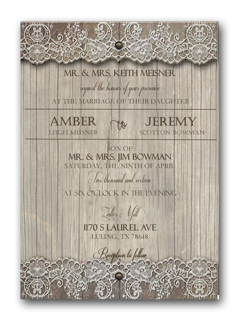 Country Affair Rustic Wedding Invitation & RSVP