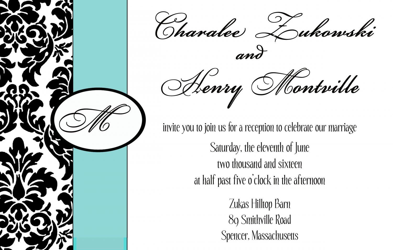 Damask monogram modern Wedding Invitation & RSVP