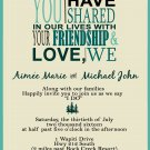 Friendship and Love Wedding Invitation & RSVP
