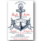 Personalized Nautical Anchor Wedding Invitations & RSVP ANY COLOR