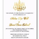 Gold Foil Chandelier Elegant Wedding Invitations & RSVP