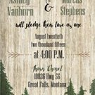 Montana Pines Mountain Wedding Invitation & RSVP/Outdoor Wedding/Mountain Wedding