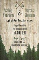 Montana Pines Mountain Wedding Invitation & RSVP/Outdoor Wedding/Mountain Wedding