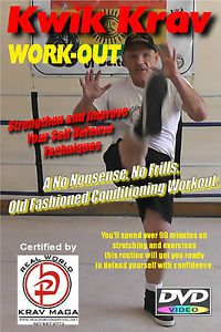"""KRAV MAGA WORKOUT"" Self Defense Follow along Conditioning Video, DVD"