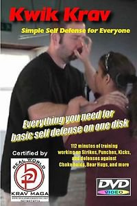 """""""SIMPLE SELF-DEFENSE"""" All you need to know on one disk, Krav Maga Training DVD."""