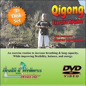 """A BEGINNERS GUIDE TO QI-GONG"" 3 Disk Set, Meditation / Relaxation DVD"