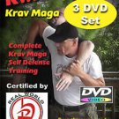 """KWIK KRAV MAGA 3 Disk Set""  Everything needed for complete Self Defense, DVD"