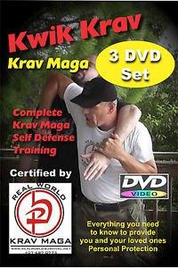 """COMPLETE KRAV MAGA 3 DVD Set""  Easy to follow Self Defense Training Video"