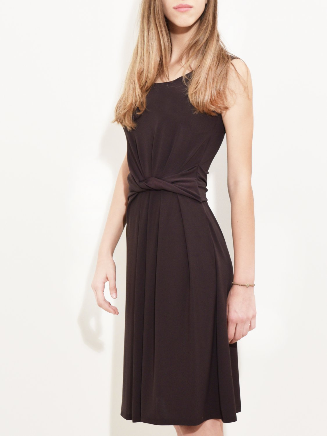 Draped Jersey Dress chocolate