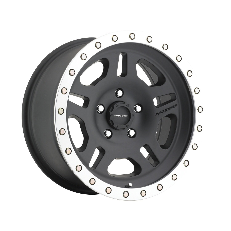 "Pro Comp Alloys Series 29 La Paz Satin Black Wheel with Machined Lip (16x8""/5x114.3mm)"