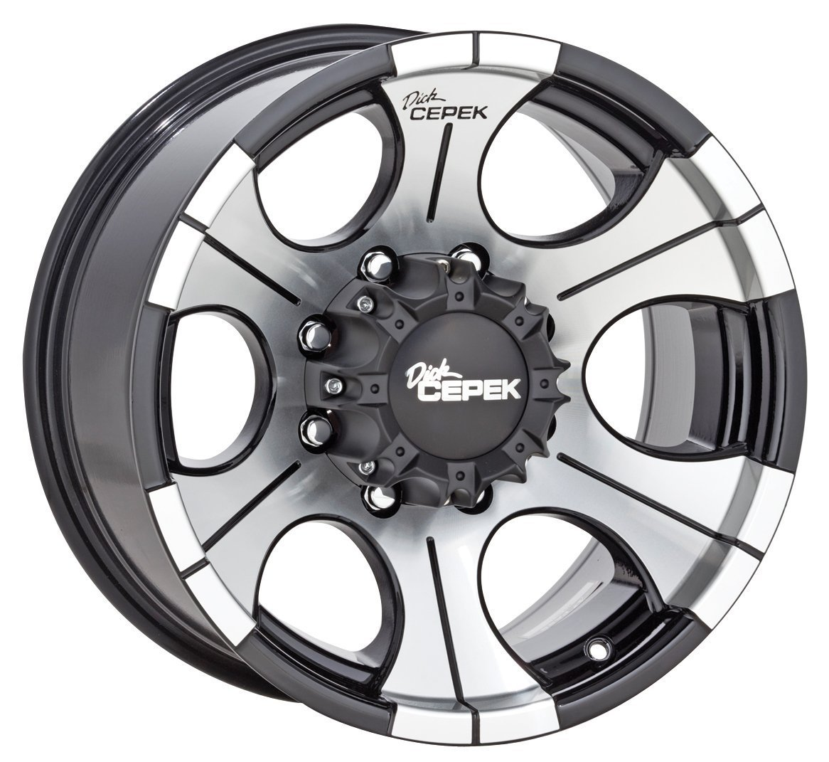 """Dick Cepek DC-2 Gloss Black Wheel with Machined Finish (16x8""""/5x5.5"""") -12 millimeters offset"""