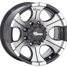 "Dick Cepek DC-2 Gloss Black Wheel with Machined Finish (16x8""/5x5.5"") -12 millimeters offset"