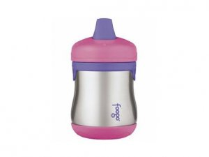 Foogo Stainless Steel Sippy Cup - Pink