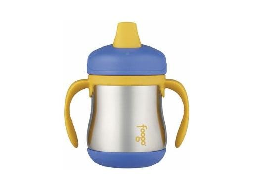Foogo Stainless Steel Sippy Cup w/ Handles - Blue