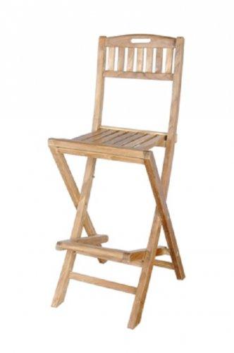 Anderson Teak Altavista Wood Folding Bar/Patio/Garden Chair - FREE SHIPPING