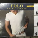 Polo Ralph Lauren Slim Fit Three 3 Pack Cotton V Neck T Tee Shirt White