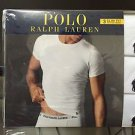 Polo Ralph Lauren Slim Fit Three 3 Pack Cotton Crew Neck Tee Shirt WHITE