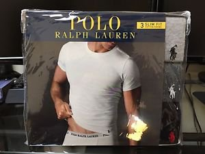 Polo Ralph Lauren Slim Fit Three Pack Cotton Crew Neck Tee Shirt Grey Black Mix