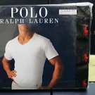 Polo Ralph Lauren Classic Fit Three 3 Pack Cotton V-Neck T Tee Shirt BLACK
