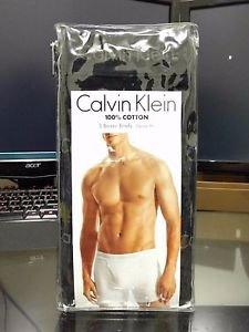 Calvin Klein 3 Pack Boxer Briefs Cotton Underwear Classic Fit BLACK MSRP $39.50
