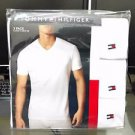 Tommy Hilfiger 3-Pack Three White Classic V Neck Cotton Tee T Shirt MSRP $45
