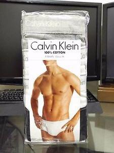 Calvin Klein 4 Pack Briefs Cotton Underwear Classic Fit WHITE BLACK GRAY $39.50