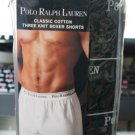 Polo Ralph Lauren Classic Cotton Three Knit Boxer Shorts Black with Red Logo