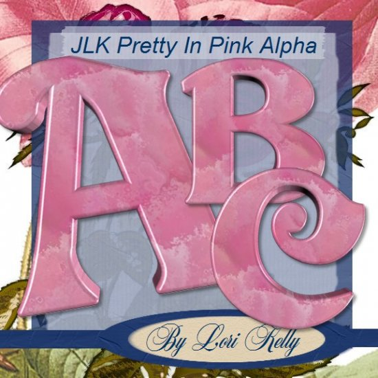 Pretty in Pink Alphabet 1 - ON SALE!