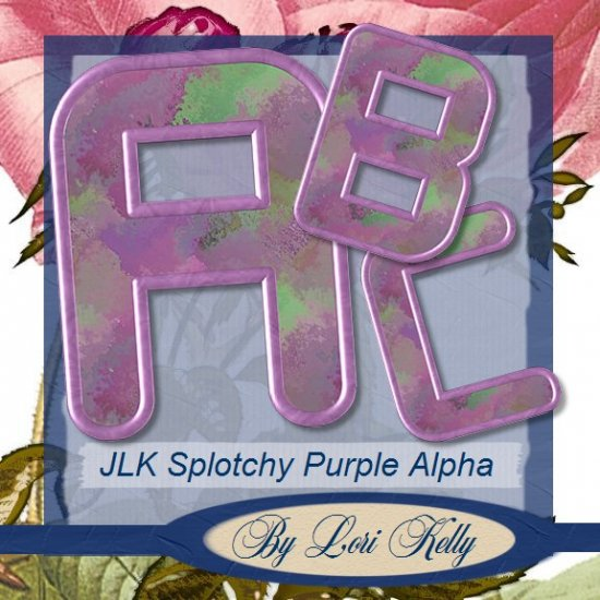 Purple Splotchy Alpha - ON SALE!