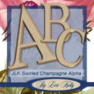Swirled Champagne Alpha - ON SALE!