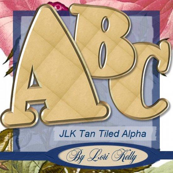 Tan Tiled Alpha - ON SALE!