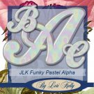 Funky Pastel Alpha - ON SALE!