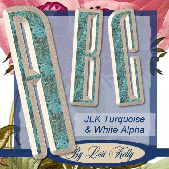 JLK Turquoise & White Alpha - ON SALE!