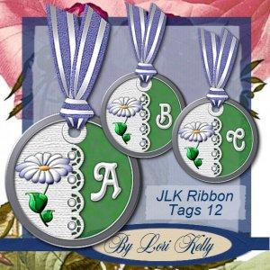 JLK Ribbon Tags 12 - ON SALE!