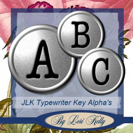 JLK Typewriter Keys Alpha - ON SALE!