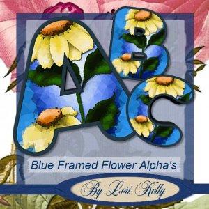 JLK Blue Framed Flower Alpha's - ON SALE!