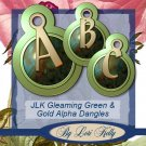 JLK Gleaming Green & Gold Alpha Dangles - ON SALE!