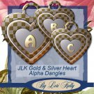 JLK Gold & Silver Heart Alpha Dangles - ON SALE!