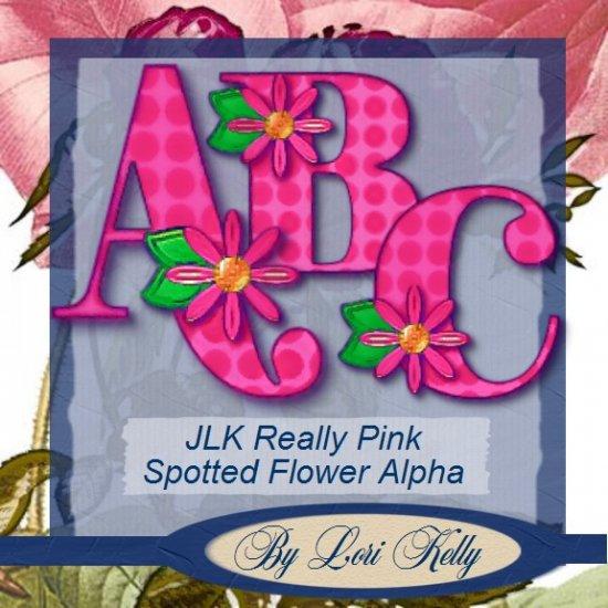JLK Really Pink Spotted Flower Alpha