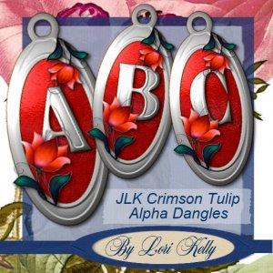 JLK Crimson Tulip Alpha Dangles - ON SALE!