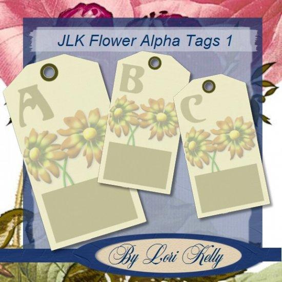 JLK Flower Alpha Tags 1 - ON SALE!
