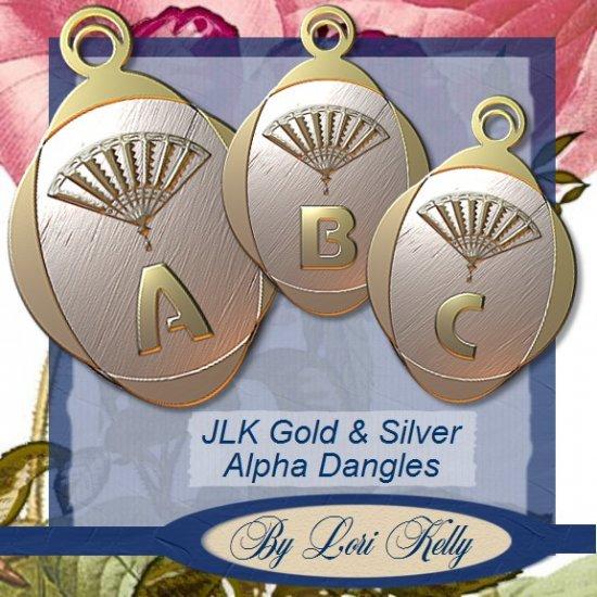 JLK Gold & Silver Fan Alpha Dangles