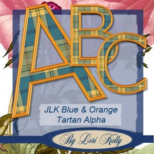 JLK Blue & Orang Tartan Alpha - ON SALE!