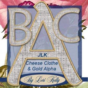 JLK Cheese Clothe & Gold Alpha - ON SALE!