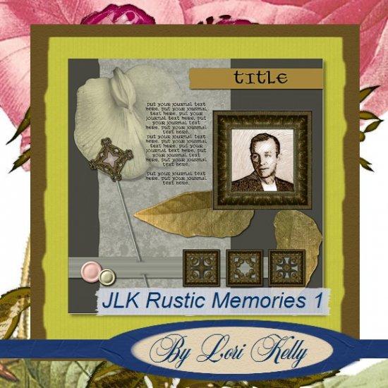 JLK Rustic Memories Template