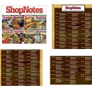 SHOPNOTES MAGAZINE COMPLETE SET 138 ISSUES WOODWORKING DIY PLANS TIPS DIAGRAMS