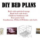 DIY BED PLANS TWIN SINGLE KIDS HIGH SLEEPER DESK LOTS OF WOODWORKING FURNITURE