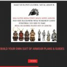 MAKE YOUR OWN BODY ARMOUR - SUIT MEDIEVAL KNIGHT CHAINMAIL  ARMY REENACTMENT
