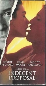 Indecent Proposal (VHS) Robert Redford, Demi Moore, Woody Harrelson