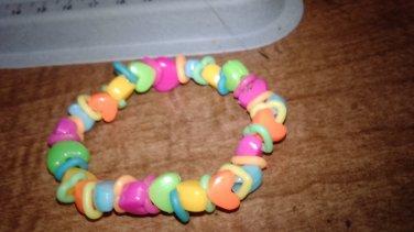 Double Hearts Stretch Bracelet